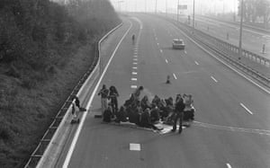 Picnicking on a empty motorway