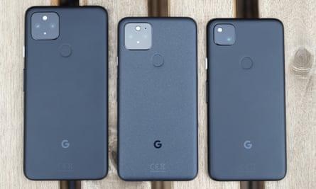 Three Pixel 5s