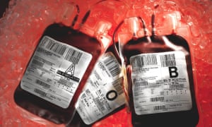 Undated photo of blood bags. Some victims were infected through NHS surgery, others through childbirth, treatment for haemophilia or contact with a partner.
