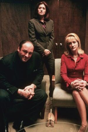 James Gandolfini as Tony Soprano; Lorriane Bracco as Dr. Jennifer Melfi; Edie Falco as Carmela Soprano