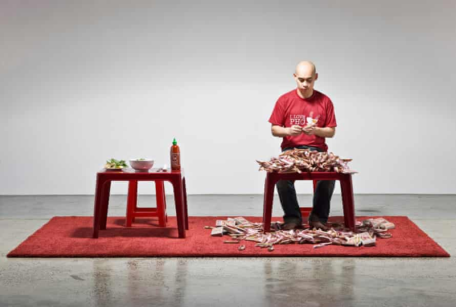 Vietnamese-Australian artist Phuong Ngo in Article 14.1, durational performance art that is showing at Sydney festival 2019 at the MCA