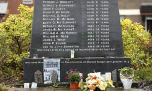 The Bloody Sunday memorial in Derry, Northern Ireland.