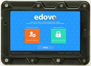 An Edovo tablet computer.