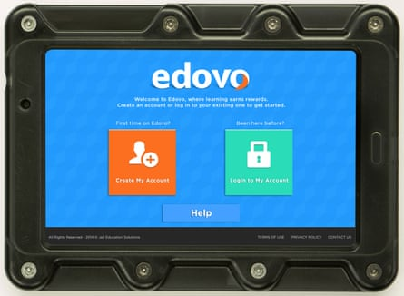 An Edovo tablet computer.