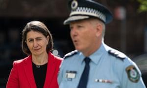 NSW premier Gladys Berejiklian and NSW police commissioner Mick Fuller.