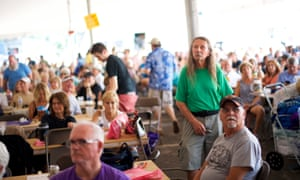 Attendees listen during Musikfest.