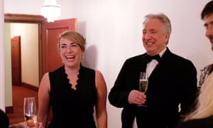 'Women would stare open-mouthed as he passed' … Viner and Rickman at the White House Correspondents Dinner in 2015.
