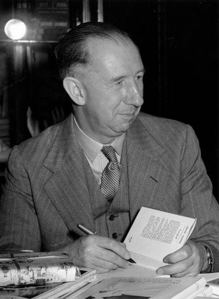 Nevil Shute signing books in 1953.