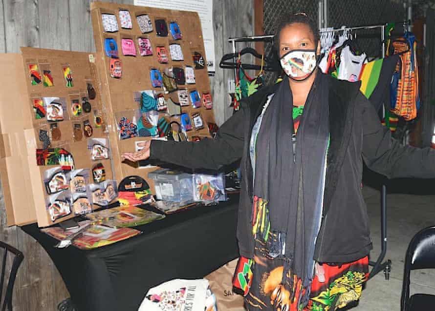 A vendor at a San Francisco Black Wallstreet event.