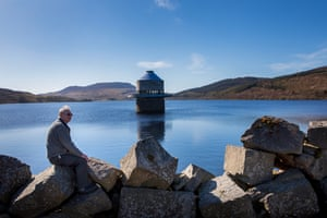 Plaid Cymru councillor Elwyn Edwards, photographed at the Llyn Celyn reservoir as part of a feature looking at the Welsh road to independence.