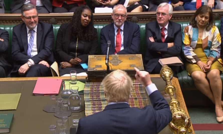 Boris Johnson speaks during the debate on the Queen's speech on 14 October, 2019.