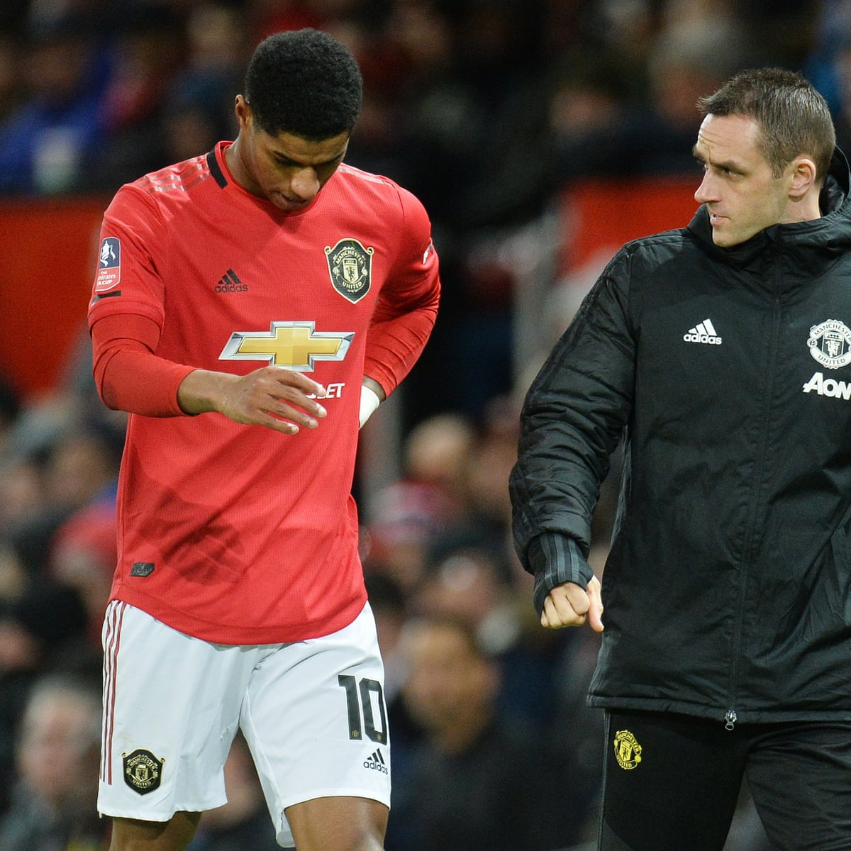 Manchester United S Marcus Rashford Faces Fitness Fight For Liverpool Trip Manchester United The Guardian