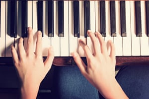A piano player
