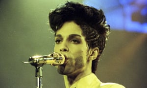 Prince performs during his 'Diamonds and Pearls Tour'