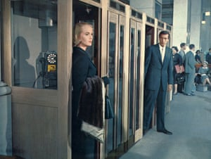 In Hitchcock's North By Northwest, 1959, with Eva Marie Saint