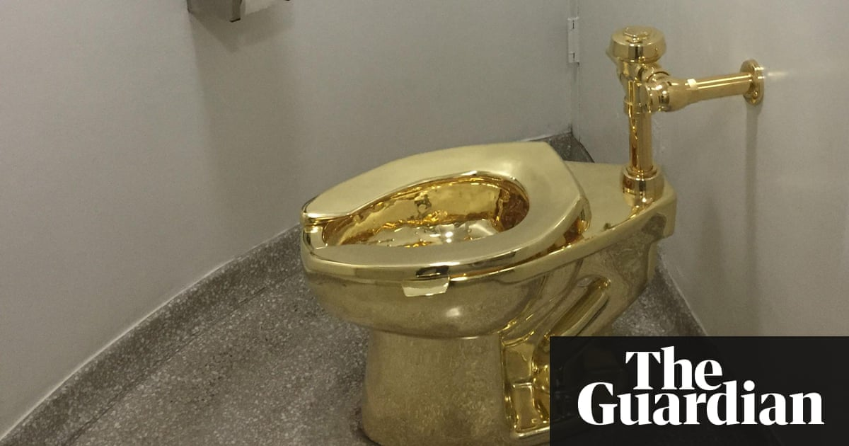 24k gold toilet paper. On the throne  what it s like to use Guggenheim solid gold toilet Art and design The Guardian