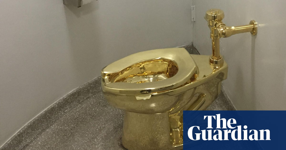 Waiting to Pee in America, the Gold Toilet at the Guggenheim