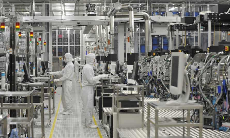 A semiconductor manufacturing plant in Japan.