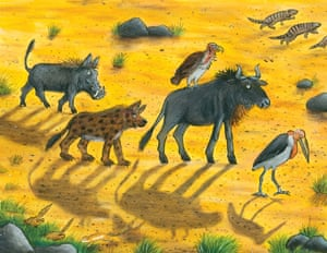 Illustration from The Ugly Five by Julia Donaldson & Axel Scheffler.