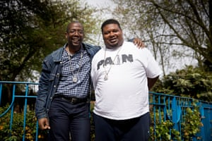 Big Narstie and his childhood mentor Pastor Chris.
