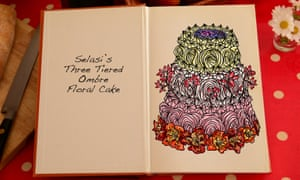 Selasi's Three Tiered Ombre Floral Cake, an illustration for the Great British Bake Off creation by Tom Hove.