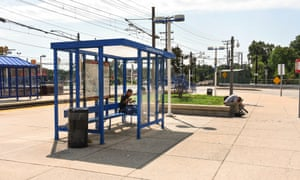 The Cromwell light rail stop, which locals claim is responsible for bringing criminals to the area.