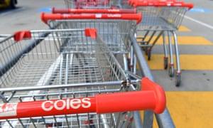 Coles trolleys