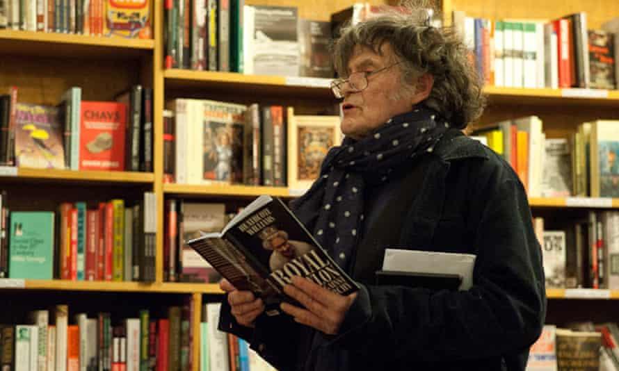 Heathcote Williams at the radical Housmans Bookshop, Caledonian Road, London.