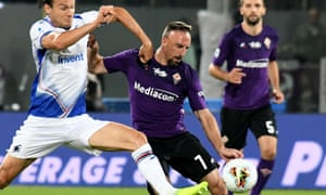Fiorentina's Franck Ribéry in action during their win over Sampdoria on Wednesday.