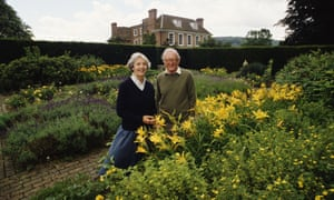 Lord and Lady Carrington at the Manor House in Bledlow, Buckinghamshire, in 1990.