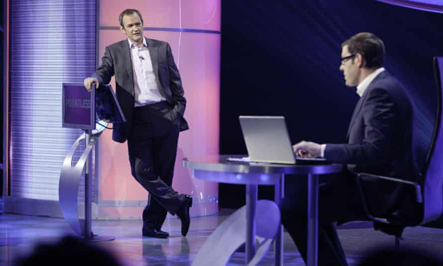 Richard Osman, right, presenting Pointless – the show he devised – with Alexander Armstrong