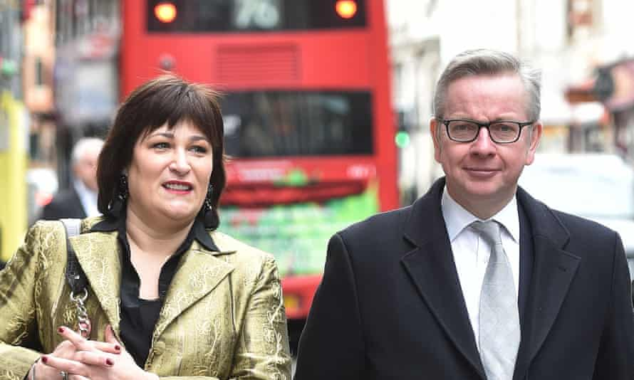 Sarah Vine and Michael Gove in 2016
