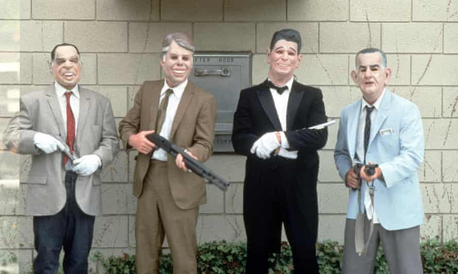 The masked robbers in Point Break.
