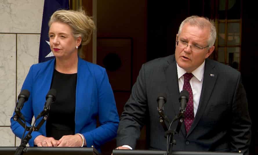 Former sport minister Bridget McKenzie and prime minister Scott Morrison