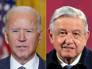 US president Joe Biden and Mexican president Andrés Manuel Lopéz Obrador.