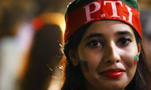 A PTI party supporter