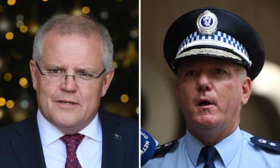 Scott Morrison is under fire for making a phone call to the NSW police commissioner Mick Fuller to discuss an active investigation into Angus Taylor.