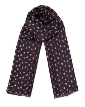 Cross-hatch silk-wool scarf, £42, Jigsaw