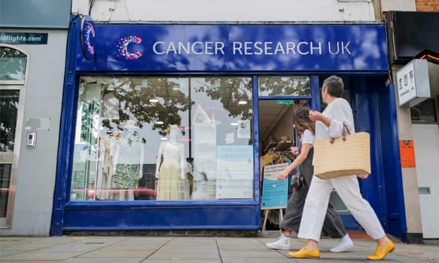 A Cancer Research charity shop in Islington, London.