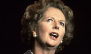 Former prime minister Margaret Thatcher at the Conservative party conference in 1985.