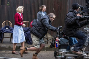 Call the Midwife being filmed in Mill Hill, north London.