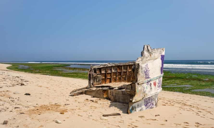 Shipwreck on Nyang Nyang Beach at the south end of Bali.
