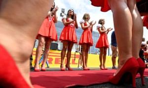 Formula One grid girls at a grand prix