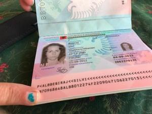 Silvana's passport