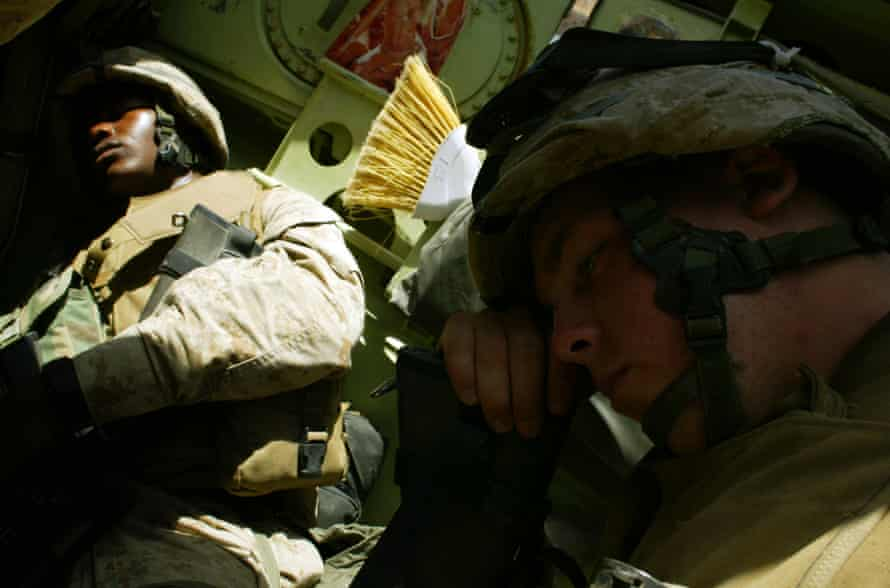 Tyler Flanigan (front) during his time in Iraq