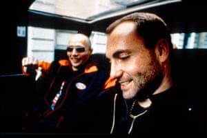 Mads Mikkelsen and Kim Bodnia in Refn's 1996 feature debut Pusher.