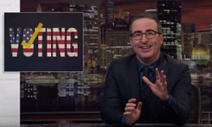 John Oliver: 'We should have more faith in our system for choosing our leaders than we do in the one that inexplicably keeps Sean fucking Spicer doing the cha-cha on national TV.'