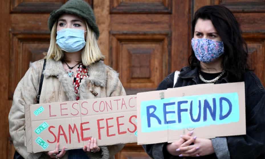 Edinburgh University students protest
