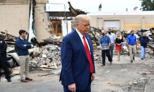 Donald Trump tours Kenosha, Wisconsin