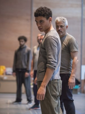 Fatherland in rehearsal in Manchester.